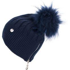 Czapka damska Fashion fur granatowa. Niebieskie czapki zimowe damskie Art of Polo. Za 78,80 zł.