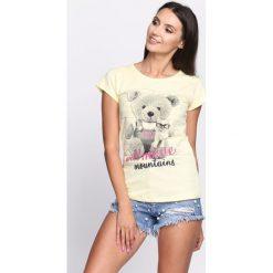 Bluzki, topy, tuniki: Żółty T-shirt Sweet Teddy Bear