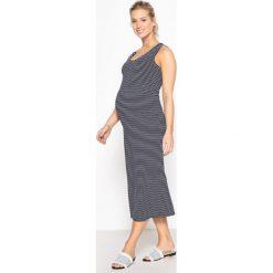 Sukienki hiszpanki: Prosta sukienka ciążowa z nadrukiem
