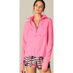 Kurtki sportowe damskie: Sportowa kurtka athleisure – Różowy