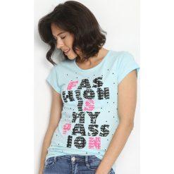 T-shirty damskie: Niebieski T-shirt Catch On