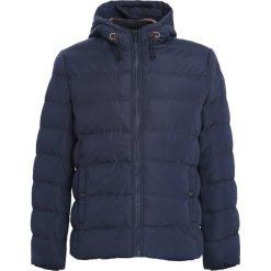 Granatowa Kurtka Good Soul. Czarne kurtki męskie pikowane marki Born2be, m, z nadrukiem, z dresówki, z kapturem. Za 139,99 zł.