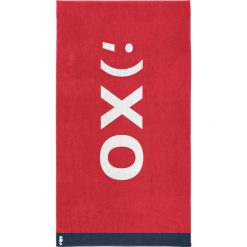 """Kąpielówki męskie: Ręcznik plażowy """"XO"""" w kolorze czerwonym"""