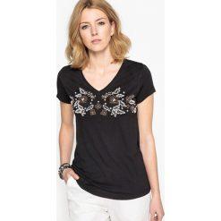 Bluzki asymetryczne: Elegancka bluzka z krótkim rękawem