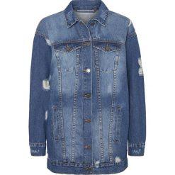 Bomberki damskie: Noisy May Angie Denim Jaket Kurtka jeansowa damska niebieski