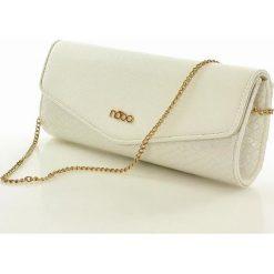 Kopertówki damskie: Elegancka torebka wizytowa kopertówka biały