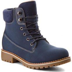 Trapery JENNY FAIRY - WS722-28A Navy. Niebieskie buty zimowe damskie marki Jenny Fairy, z materiału. W wyprzedaży za 79,99 zł.