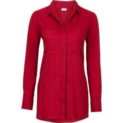 Długa bluzka bonprix ciemnoczerwony. Czerwone bluzki asymetryczne bonprix, z długim rękawem. Za 89,99 zł.