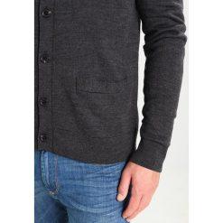 Swetry rozpinane męskie: Abercrombie & Fitch LOOPER Kardigan charcoal