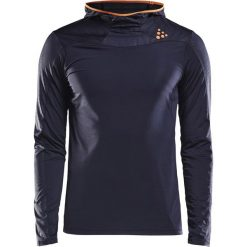 T-shirt CRAFT Run Shade Hood. Czarne t-shirty męskie Astratex, m, z materiału, z kwadratowym dekoltem. Za 191,99 zł.