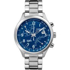 Biżuteria i zegarki męskie: Zegarek Timex Męski TW2P60600 IQ T Series Fly-Back Chronograf srebrny