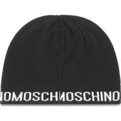 Czapka MOSCHINO - 65131 M1880 016. Czarne czapki zimowe damskie MOSCHINO, z kaszmiru. Za 279,00 zł.