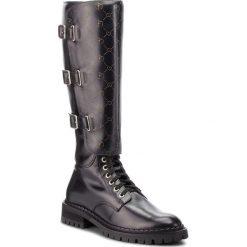 Oficerki EVA MINGE - Pineda 4U 18SF1372605EF 101. Czarne buty zimowe damskie Eva Minge, ze skóry. Za 849,00 zł.