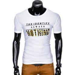 T-SHIRT MĘSKI Z NADRUKIEM S988 - BIAŁY. Białe t-shirty męskie z nadrukiem Ombre Clothing, m. Za 29,00 zł.