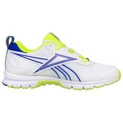 Buty sportowe w kolorze biało-niebieskim. Brązowe buty sportowe męskie marki Reebok, z materiału. W wyprzedaży za 159,95 zł.