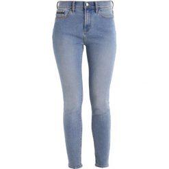 Calvin Klein Jeans HIGH RISE SKINNY ANKLE Jeans Skinny Fit bison blue. Niebieskie jeansy damskie Calvin Klein Jeans, z bawełny. W wyprzedaży za 314,30 zł.