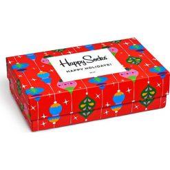 Happy Socks - Skarpetki Singing Holiday Gift Box (3-pak). Czerwone skarpetki damskie Happy Socks. W wyprzedaży za 99,90 zł.