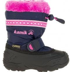 """Kozaki zimowe """"Hatrickg"""" w kolorze granatowym. Niebieskie kozaki dziewczęce marki geox kids, z gumy. W wyprzedaży za 215,95 zł."""