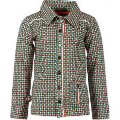 """Koszula """"Cross Road Blues"""" w kolorze zielono-szarym. Szare koszule chłopięce marki 4FunkyFlavours Kids, z aplikacjami, z klasycznym kołnierzykiem. W wyprzedaży za 102,95 zł."""