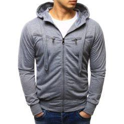 Bluzy męskie: Bluza męska rozpinana z kapturem szara (bx2257)