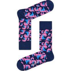 Happy Socks - Skarpety Wave. Niebieskie skarpetki męskie marki Quiksilver, z materiału, sportowe. W wyprzedaży za 27,90 zł.