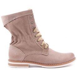 Botki męskie: Skórzane botki w kolorze cappucino