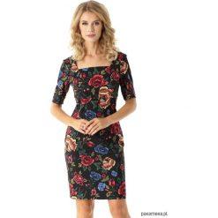 Dopasowana sukienka z kwadratowym dekoltem Roxie. Niebieskie sukienki balowe marki Pakamera, z bawełny. Za 175,00 zł.