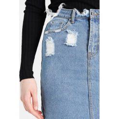 Spódniczki: Missguided Tall BUSTED MIDI Spódnica ołówkowa  blue denim