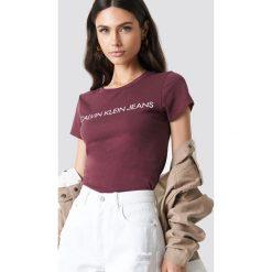 T-shirty damskie: Calvin Klein T-shirt Institutional Logo Slim Fit - Purple