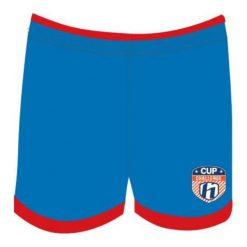Spodenki chłopięce: Huari Szorty juniorskie Kempes Junior Short French Blue/ Fiery Red r. 146