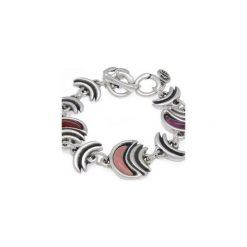 Posrebrzana bransoletka z czerwonym kamieniem Murano Moon - 181104. Szare bransoletki damskie z cyrkoniami marki Reserved, srebrne. Za 279,00 zł.