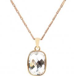 Pozłacany naszyjnik z zawieszką z kryształkami Swarovski - dł. 42 cm. Żółte naszyjniki damskie marki METROPOLITAN, pozłacane. W wyprzedaży za 58,95 zł.