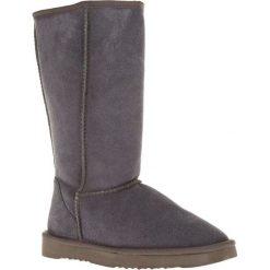 Skórzane kozaki w kolorze szarym. Szare buty zimowe damskie Carla Samuel. W wyprzedaży za 229,95 zł.