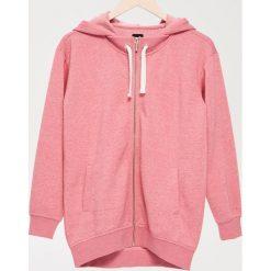 Bluzy damskie: Rozpinana bluza z kapturem – Różowy
