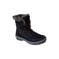 Śniegowce Skechers  WOODLAND 48647 BLK. Niebieskie buty zimowe damskie marki Skechers. Za 404,55 zł.