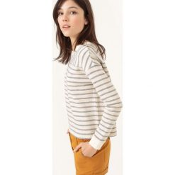 Bluza z nadrukiem. Szare bluzy z nadrukiem damskie La Redoute Collections, xxl, z bawełny, z długim rękawem, długie. Za 94,50 zł.