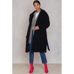 Płaszcze damskie pastelowe: NA-KD Trend Płaszcz Teddy – Black