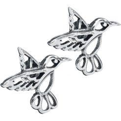 Kolczyki damskie: Hummingbird Kolczyki – Earpin srebrny