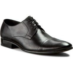 Półbuty PILPOL - L010 C60. Czarne buty wizytowe męskie Pilpol, z materiału. W wyprzedaży za 219,00 zł.
