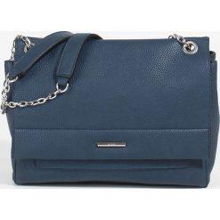 Parfois - Torebka Riscada. Szare torebki klasyczne damskie marki Parfois, w paski, z materiału, średnie. Za 139,90 zł.