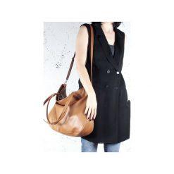 Pacco bag ruda torebka z dodakowym długim paskiem. Brązowe torebki klasyczne damskie Hairoo, w paski. Za 170,00 zł.