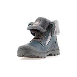 Śniegowce Dziecko Palladium  Baggy Leather S 82610-463. Niebieskie buty zimowe chłopięce marki Timberland, z gumy. Za 383,30 zł.