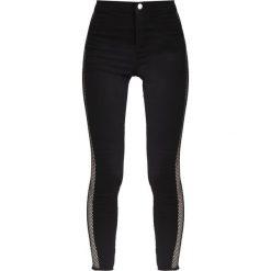 Topshop FISHNET JONI  Jeans Skinny Fit black. Czarne jeansy damskie marki Topshop. W wyprzedaży za 149,40 zł.