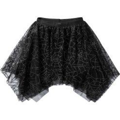 """Spódniczka tiulowa na Halloween """"Pajęczyna"""" bonprix czarny. Czarne spódniczki dziewczęce marki bonprix, z nadrukiem, z tiulu. Za 29,99 zł."""