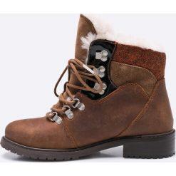 Emu Australia - Botki. Szare buty zimowe damskie EMU Australia, z materiału, z okrągłym noskiem, na obcasie. W wyprzedaży za 359,90 zł.