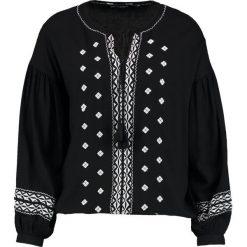 Bluzki asymetryczne: Dorothy Perkins EMBROIDERED BOHO Bluzka black/white