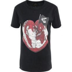 Vivienne Westwood Anglomania Tshirt z nadrukiem black. Czarne t-shirty damskie Vivienne Westwood Anglomania, xs, z nadrukiem, z bawełny. Za 399,00 zł.