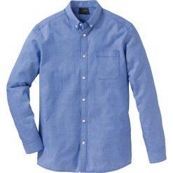 Koszula z długim rękawem Regular Fit bonprix niebieski wzorzysty. Białe koszule męskie na spinki marki bonprix, z klasycznym kołnierzykiem, z długim rękawem. Za 89,99 zł.