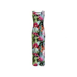Sukienka CP-025  8. Szare długie sukienki marki Colour pleasure, s, z dzianiny, na ramiączkach. Za 159,00 zł.
