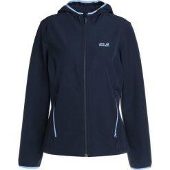 Jack Wolfskin TURBULENCE JACKET WOMEN Kurtka Softshell midnight blue. Niebieskie kurtki sportowe damskie marki Jack Wolfskin, s, z elastanu. W wyprzedaży za 377,10 zł.